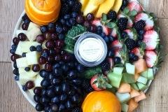 Breakfast Fruit & Cheese Board